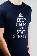 Unisex Blue Keep Calm And Stay Sterile T-Shirt